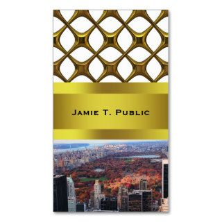A view above Autumn in Central Park 01 Business Card