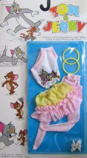 "Tom & Jerry Fashions for Barbie, Maxie, Flower Princess & 11.5"" Dolls (1988 Multi Toys) Toys & Games"