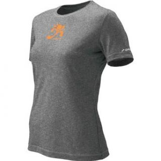 Brooks Women's EZ Girl Power Short Sleeve Shirt, Heather Glacial Water, X Large  Athletic Shirts  Clothing