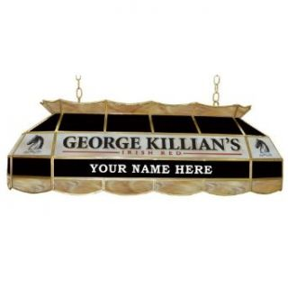 Trademark Global KL4000P, Personalized George Killians Stained Glass 40 in Light Fixt   Island Light Fixtures