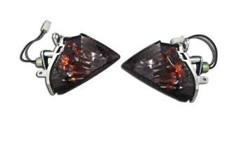 Suzuki GSXR 06 07 600 & 750, 05 06 1000 Rear Flush Smoked Turn Signals Blinkers: Automotive