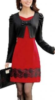 False Two piece Sets Of Bottom Dress Long Sleeved Dress at  Women�s Clothing store: