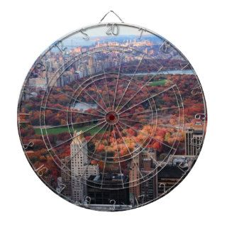 A view above Autumn in Central Park 01 Dart Boards