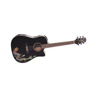 Takamine Acoustic/Electric Cutaway Guitar Dragon Finish EG531SC DR Musical Instruments