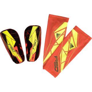 adidas F50 Pro Lite Soccer Shin Guards   Size Large, Orange/yellow