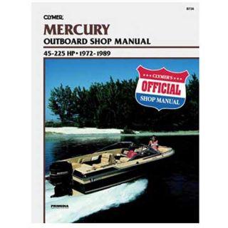 Clymer Mercury Outboard Shop Manual 45 255 HP 1972 1989 (1219726)