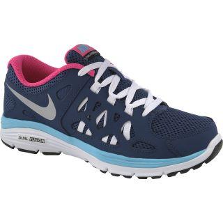 NIKE Girls Dual Fusion Run 2 GS Running Shoes   Size 5.5, Navy/white