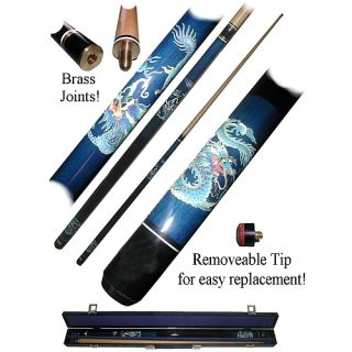 Trademark Global Blue Dragon Cue Stick   Includes Free Case (40 612BL)