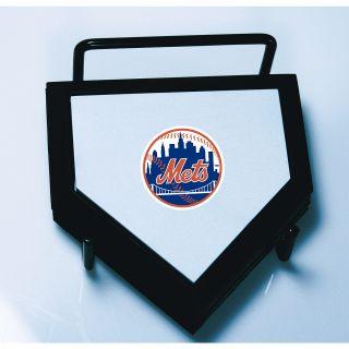 Schutt New York Mets Home Plate Coaster 4 Piece Set Features Team Logo on