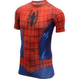 UNDER ARMOUR Mens Alter Ego Spider Man Suit Short Sleeve Compression T Shirt