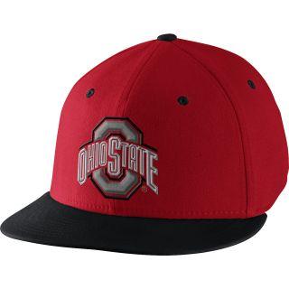 NIKE Mens Ohio State Buckeyes Players Nike True Swoosh Flex Cap, Red