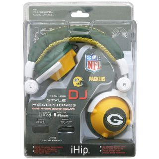 iHip Green Bay Packers Logo DJ Headphones (HPFBGBADJ)