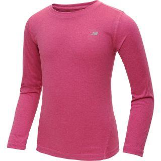 NEW BALANCE Girls Vital Long Sleeve Shirt   Size XS/Extra Small, Pink