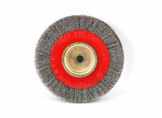6 x 1 x 1/2 Steel Brush Wire Wheel