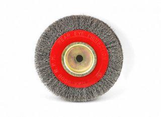 6 x 1 x 1/2 Steel Brush Wire Wheel