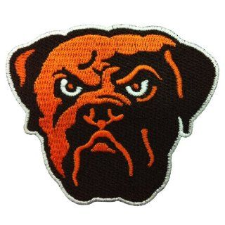 Cleveland Browns Logo Embroidered Iron Patches: Sports & Outdoors