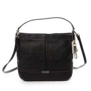 Coach 49160 Black Park Leather Mini Duffle Crossbody Bag Shoes