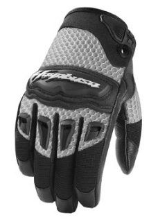 ICON TWENTY NINER HAYABUSA MOTORCYCLE GLOVE   GOAT SKIN PALM   NEW 2009 (2X LARGE, SILVER): Automotive