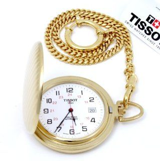 Tissot T Pocket Gold plated White Dial Pocket watch #T83.4.556.12 at  Men's Watch store.