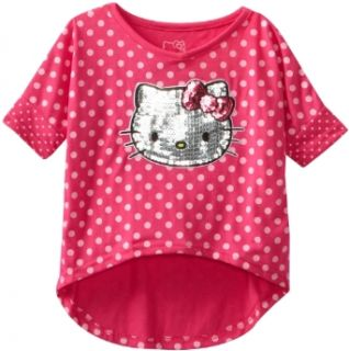 Hello Kitty Girls 2 6X Shirt In Hi Low, Fuchsia Purple, 2T Clothing