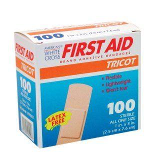 White Cross Tricot Bandage Strips 1'' X 3'' 100/box Health & Personal Care
