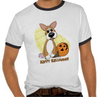 Happy Halloween Corgi Ringer T Shirt