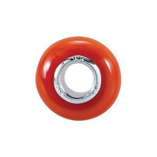 Sterling Silver Kera Orange Glass Bead: Jewelry