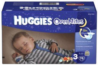 Huggies Overnites Diapers, Size 3, Big Pack, 76 Count Health & Personal Care