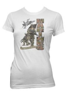 United States Marine Corps Womens T shirt, USMC Defenders Of Freedom Womens Shirt Novelty T Shirts Clothing