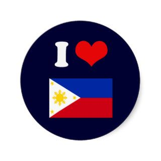 Philippine Flag Round Sticker