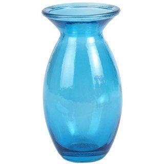 "6"" Tall Aqua Blue Oslo Recycled Glass Vase   Decorative Vases"