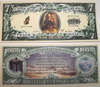 Set of 5 Bills Jesus 7 Dollar Bill Toys & Games