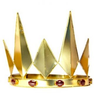 HMS Queen's Crown 5 Inch High Metal Adjustable, Bronze, One Size: Costume Accessories: Clothing