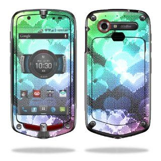 MightySkins Protective Vinyl Skin Decal Cover for Casio G'zOne Commando 4G LTE C811 GZ1 Verizon Cell Phone Sticker Skins Colorful Hearts: Computers & Accessories