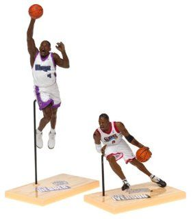 McFarlane Toys NBA 3 Inch Sports Picks Series 1 Mini Figures 2 Pack Allen Iverson & Chris Webber: Toys & Games