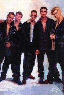 Backstreet Boys Nick Carter Now Never POSTER Black Blue   Prints