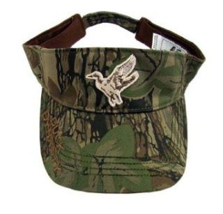 National Cap & Sportswear Mens Duck Dynasty Camo Logo Visor Hat: Clothing