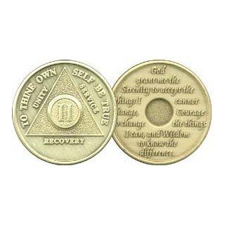 2 Year Bronze AA (Alcoholics Anonymous)   Sober / Sobriety / Birthday / Anniversary / Recovery / Medallion / Coin / Chip: Everything Else