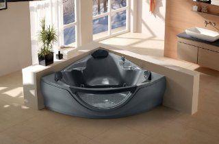 Jacuzzi Type Whirlpool Bathtub Computerized Massage Jets Built in Heater SPA Hot Tub FM  CD Model 657GR Grey