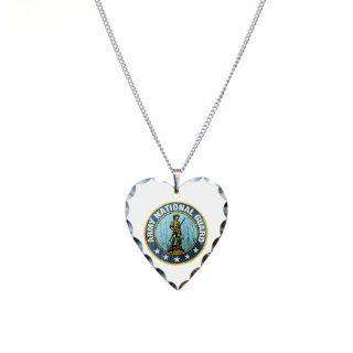 Necklace Heart Charm Army National Guard Emblem: Artsmith Inc: Jewelry