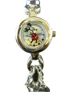 Disney Mickey Mouse Watch   Lady Size Mickey Watch Bracelet Link (Silver): Watches