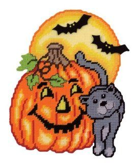 Pumpkin Cat Plastic Canvas Kit