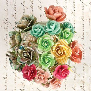 Prima   Divine Collection   Flower Embellishments   Mini Rose Stems   Artificial Flowers