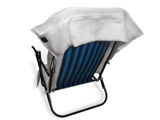 SALE Chair Towel with Pockets to hold cell phone, keys, book, water bottle, and more (White)   Home And Garden Products