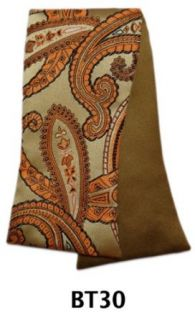 Men's Orange And Taupe Paisley and Solid Reversible Selftie Bow Tie BT30 at  Men�s Clothing store