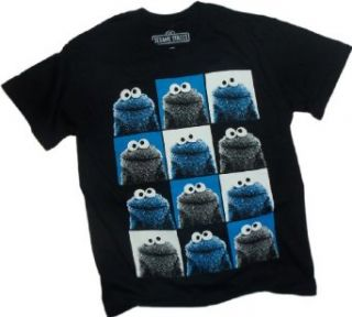 Pop Cookie    Cookie Monster    Sesame Street T Shirt, Large Clothing