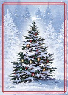 Paper Magic Group, Tree Scene Christmas Cards, Box of 16, (13712040)  Cardstock Papers