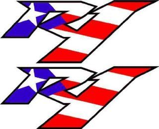 Yamaha R1 Puerto Rican Flag Decals Stickers Graphics 1000 Yzf1000 Graphics: Everything Else
