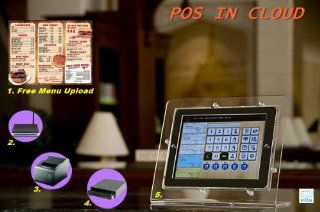 iPad Restaurant POS Cash Register Kit   iPad Stand, Receipt Printer, Cash Drawer, wireless Router, 1 year POS IN CLOUD License, and Free Menu Items Upload Service, real time monitor POS activities from anywhere, Real Time Cloud backup : Electronic Cash Reg