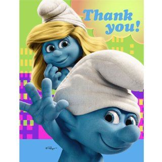 Smurfs Birthday Party Thank You Notes: Toys & Games